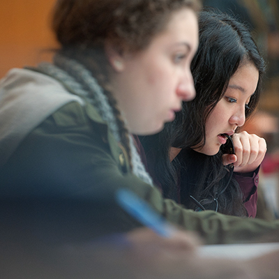 400x400px square image of students studying