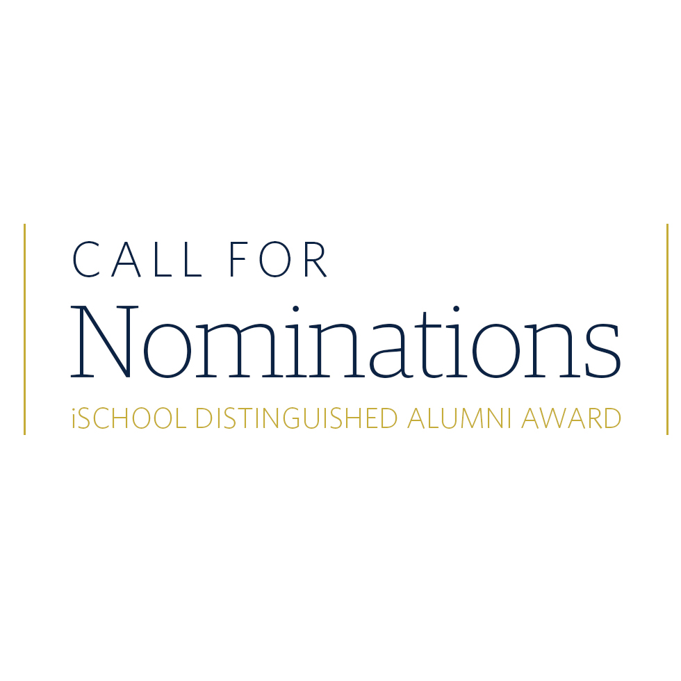 2018 call for nominations for iSchool distinguished alumni award
