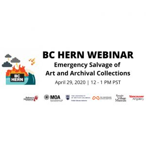BC HERN Webinar: Emergency Salvage of Art and Archival Collections